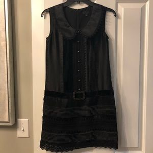 Anna Sui black buckle dress.